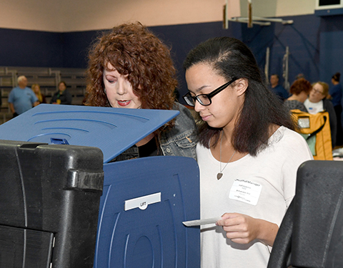 web-poll-worker-helping-voter