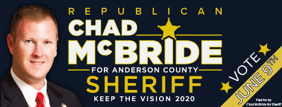 Anderson County Christmas Parade 2020 Chad McBride wants to continue to make Anderson County safe – As